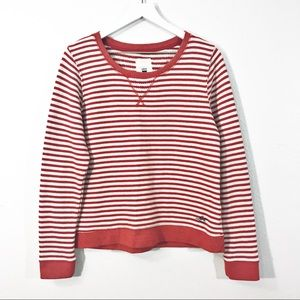 Levi's Red & White Striped Crewneck Sweatshirt